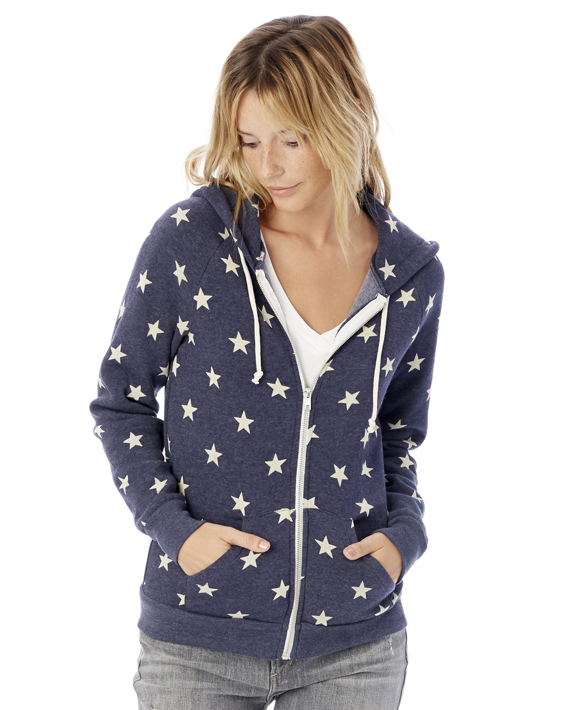 Alternative Ladies' Adrian Eco-Fleece Hoodie STARS