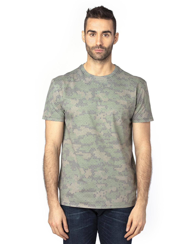 Threadfast Apparel Unisex Ultimate T-Shirt GREEN HEX CAMO