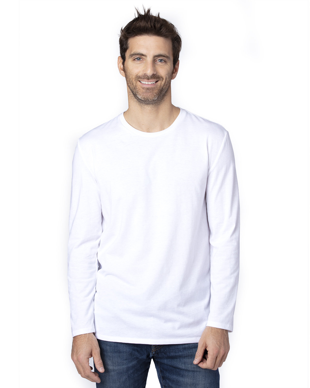 Threadfast Apparel Unisex Ultimate Long-Sleeve T-Shirt WHITE