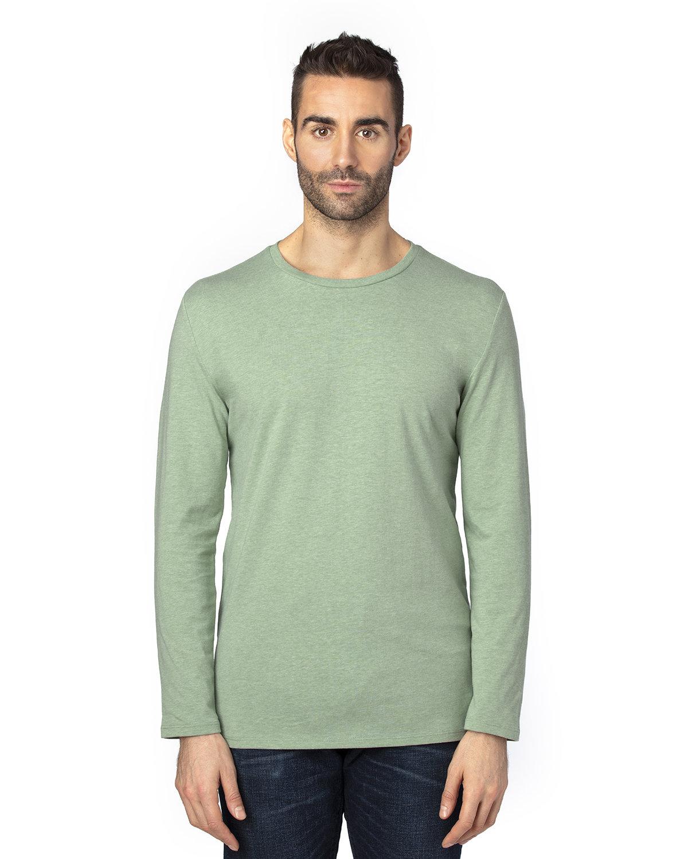 Threadfast Apparel Unisex Ultimate Long-Sleeve T-Shirt ARMY HEATHER