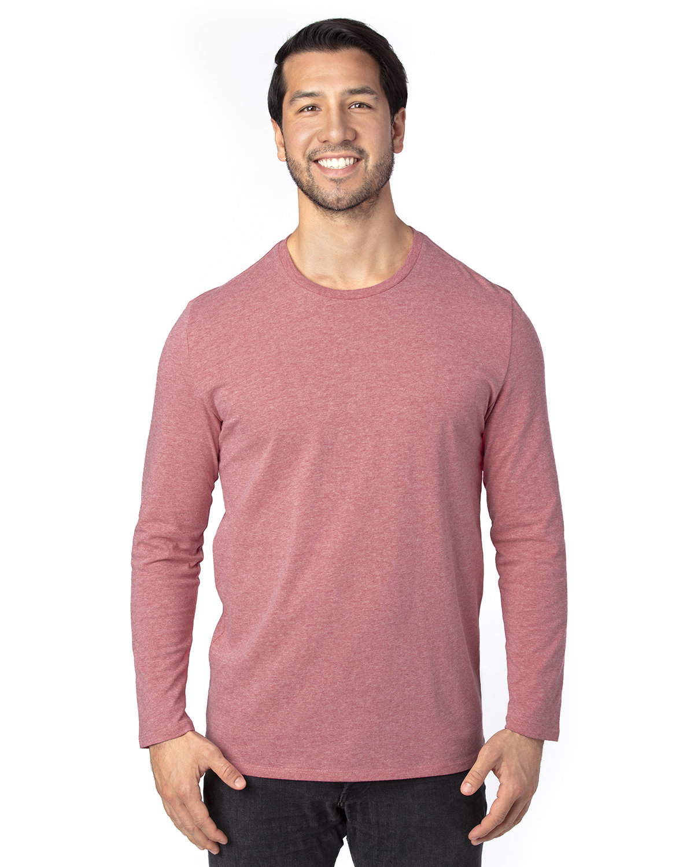 Threadfast Apparel Unisex Ultimate Long-Sleeve T-Shirt MAROON HEATHER