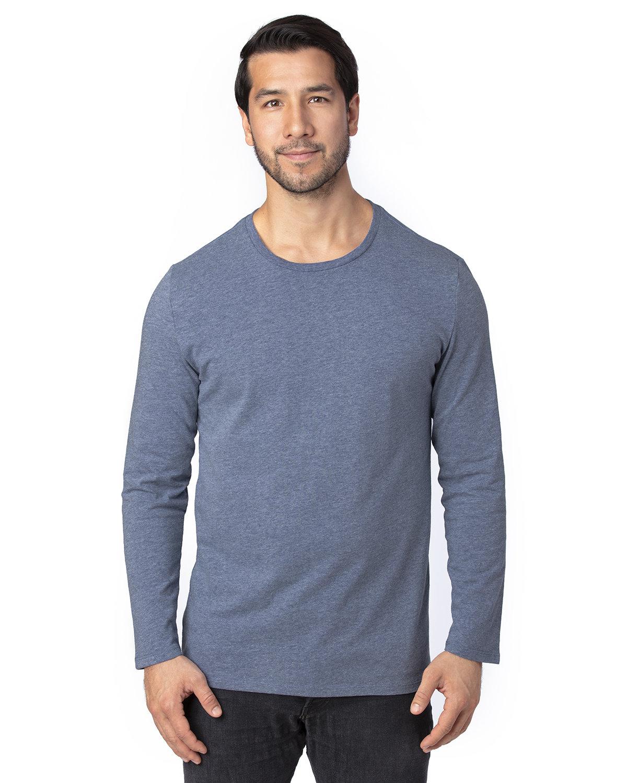 Threadfast Apparel Unisex Ultimate Long-Sleeve T-Shirt NAVY HEATHER