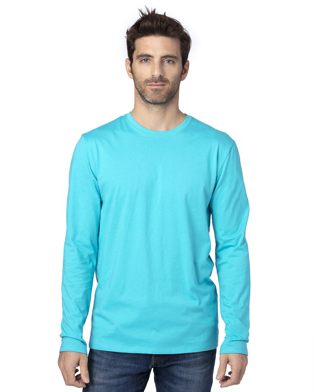 Threadfast Apparel Unisex Ultimate Long-Sleeve T-Shirt PACIFIC BLUE