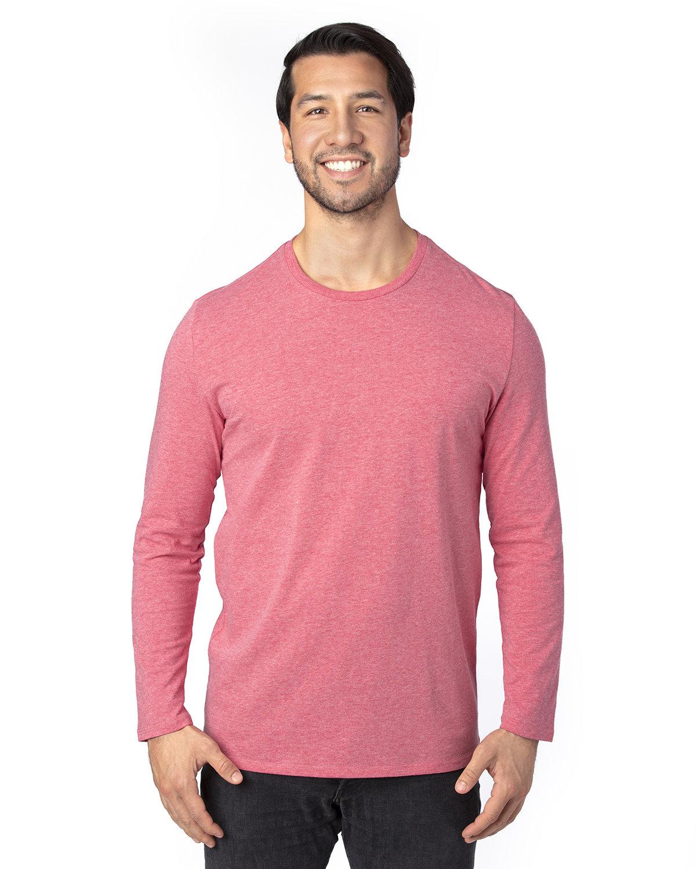 Threadfast Apparel Unisex Ultimate Long-Sleeve T-Shirt RED HEATHER