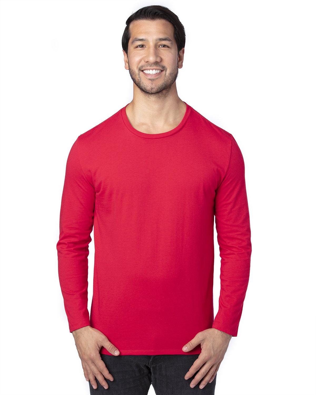 Threadfast Apparel Unisex Ultimate Long-Sleeve T-Shirt RED
