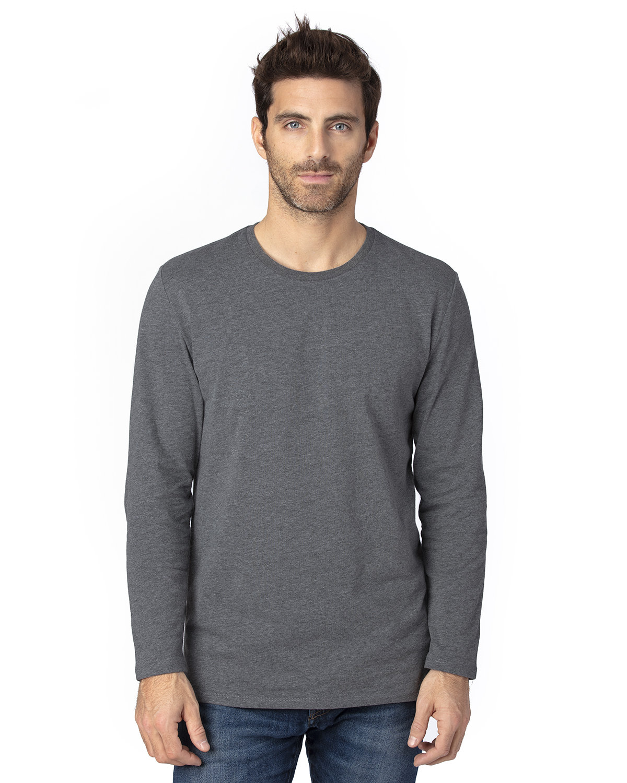 Threadfast Apparel Unisex Ultimate Long-Sleeve T-Shirt CHARCOAL HEATHER