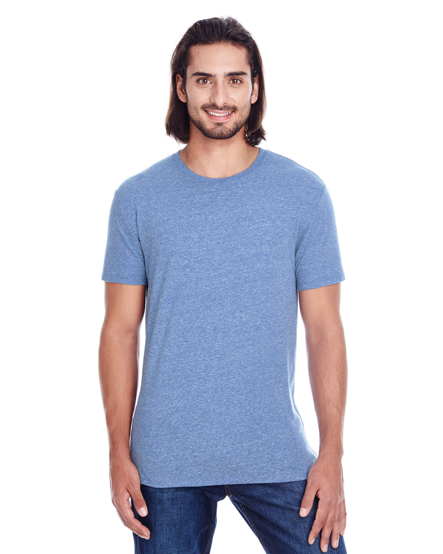 Threadfast Apparel Unisex Triblend Short-Sleeve T-Shirt NAVY TRIBLEND