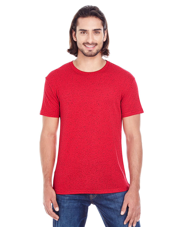 Threadfast Apparel Men's Triblend Fleck Short-Sleeve T-Shirt RED FLECK