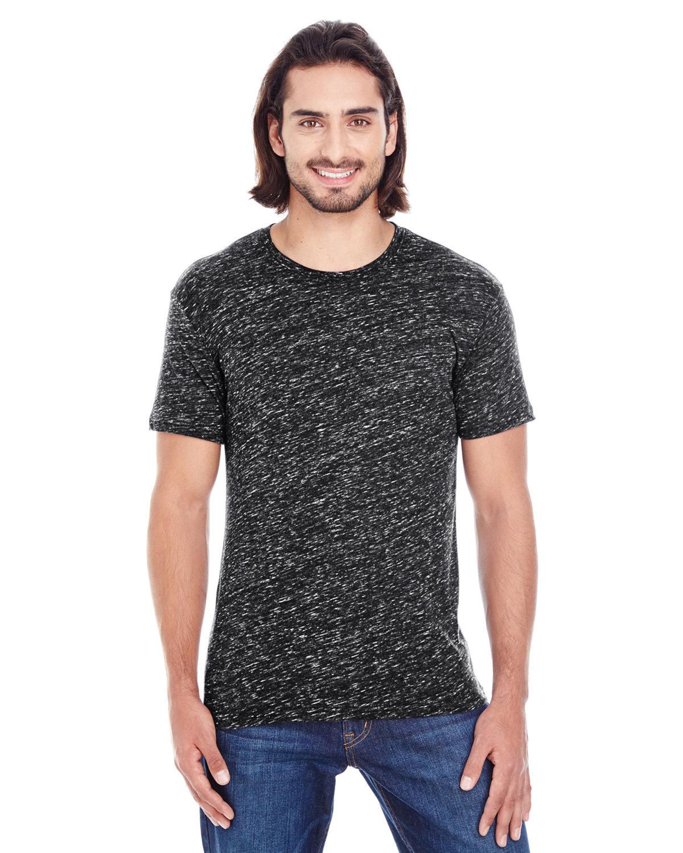 Threadfast Apparel Men's Blizzard Jersey Short-Sleeve T-Shirt BLACK BLIZZARD