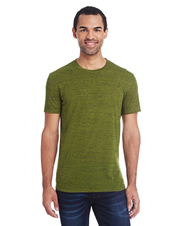 Threadfast Apparel Men's Blizzard Jersey Short-Sleeve T-Shirt OLIVE BLIZZARD