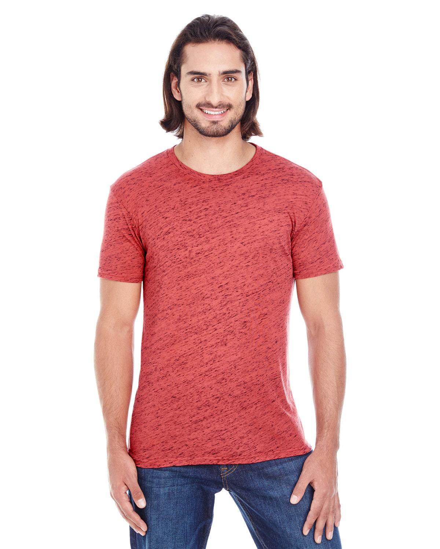 Threadfast Apparel Men's Blizzard Jersey Short-Sleeve T-Shirt RED BLIZZARD