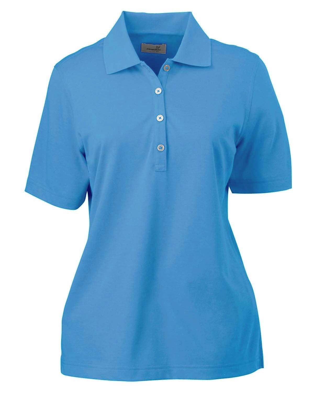 Ashworth Ladies' High Twist Cotton Tech Polo BLUE