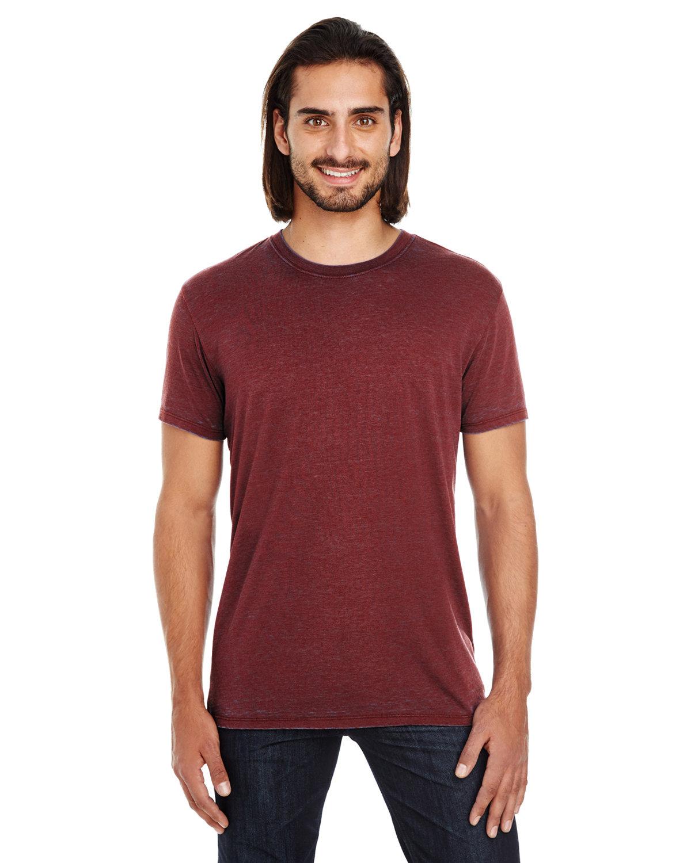 Threadfast Apparel Unisex Cross Dye Short-Sleeve T-Shirt BLACK CHERRY