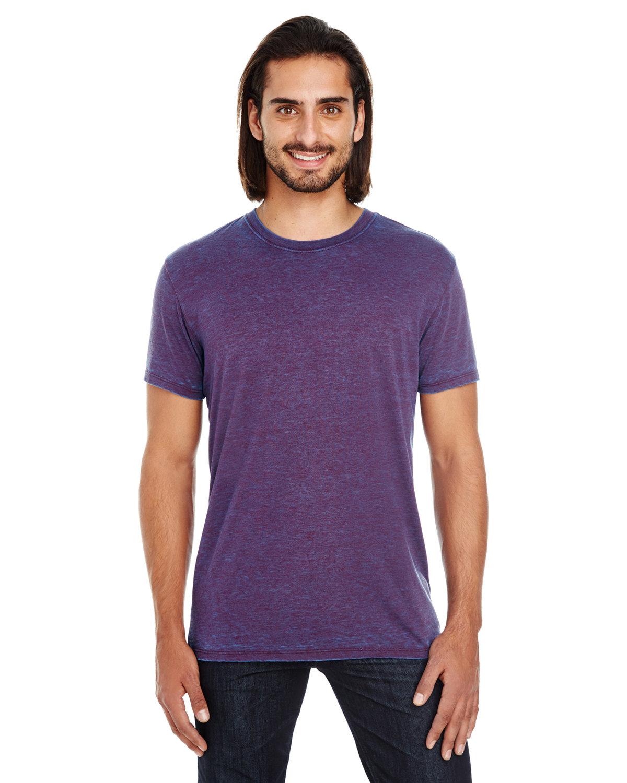 Threadfast Apparel Unisex Cross Dye Short-Sleeve T-Shirt BERRY