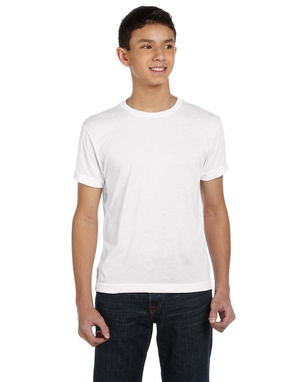 Sublivie Youth Sublimation T-Shirt WHITE