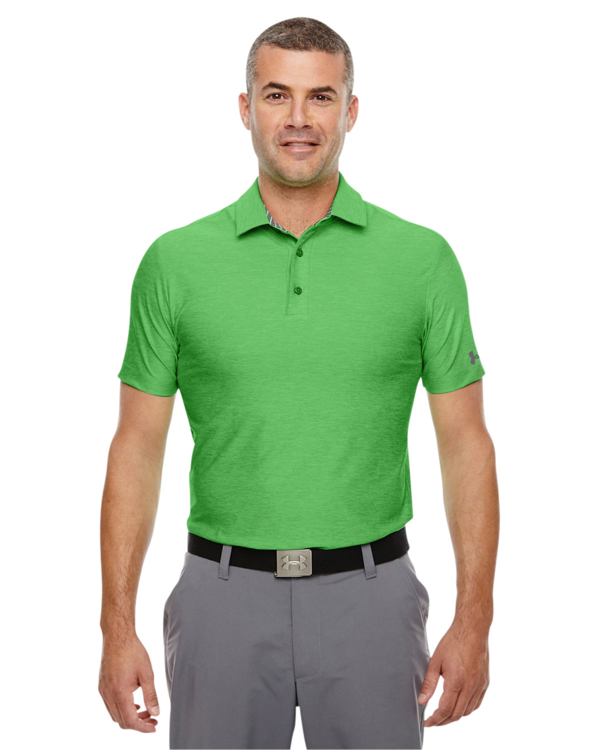 Under Armour SuperSale Men's Playoff Polo GREEN ENERGY _300