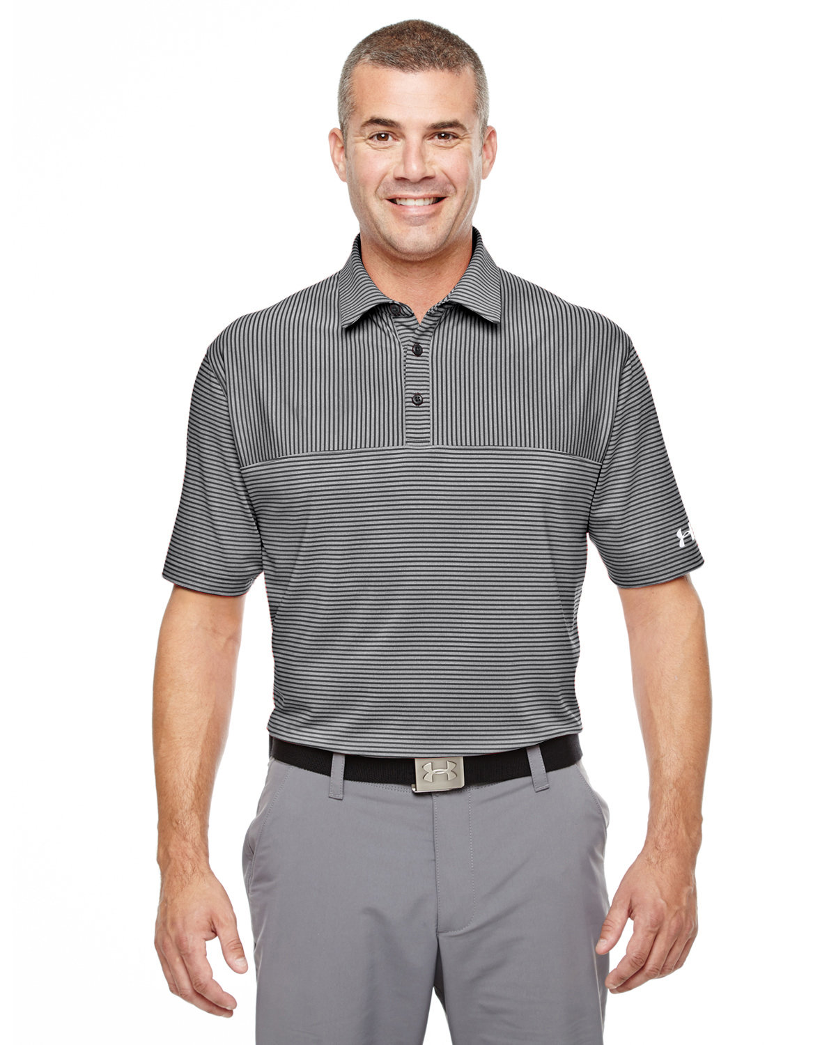Under Armour SuperSale Men's Playoff Polo BK/ T GY /WH _001