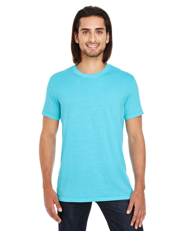 Threadfast Apparel Unisex Pigment-Dye Short-Sleeve T-Shirt LAGOON BLUE