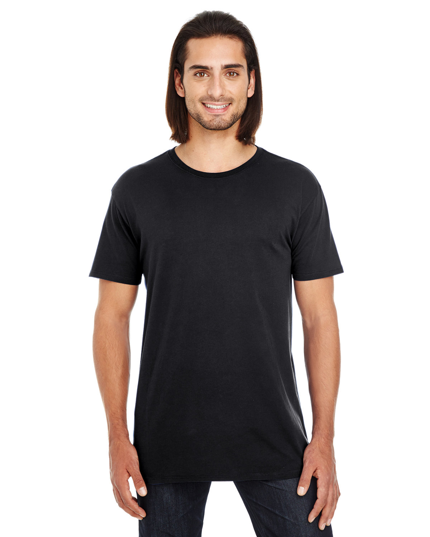 Threadfast Apparel Unisex Pigment-Dye Short-Sleeve T-Shirt BLACK