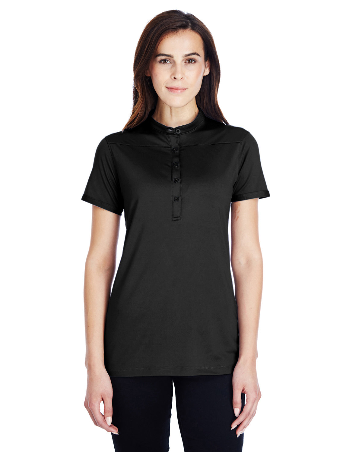 Under Armour SuperSale Ladies' Corporate Performance Polo 2.0 BLACK/ WHITE _001