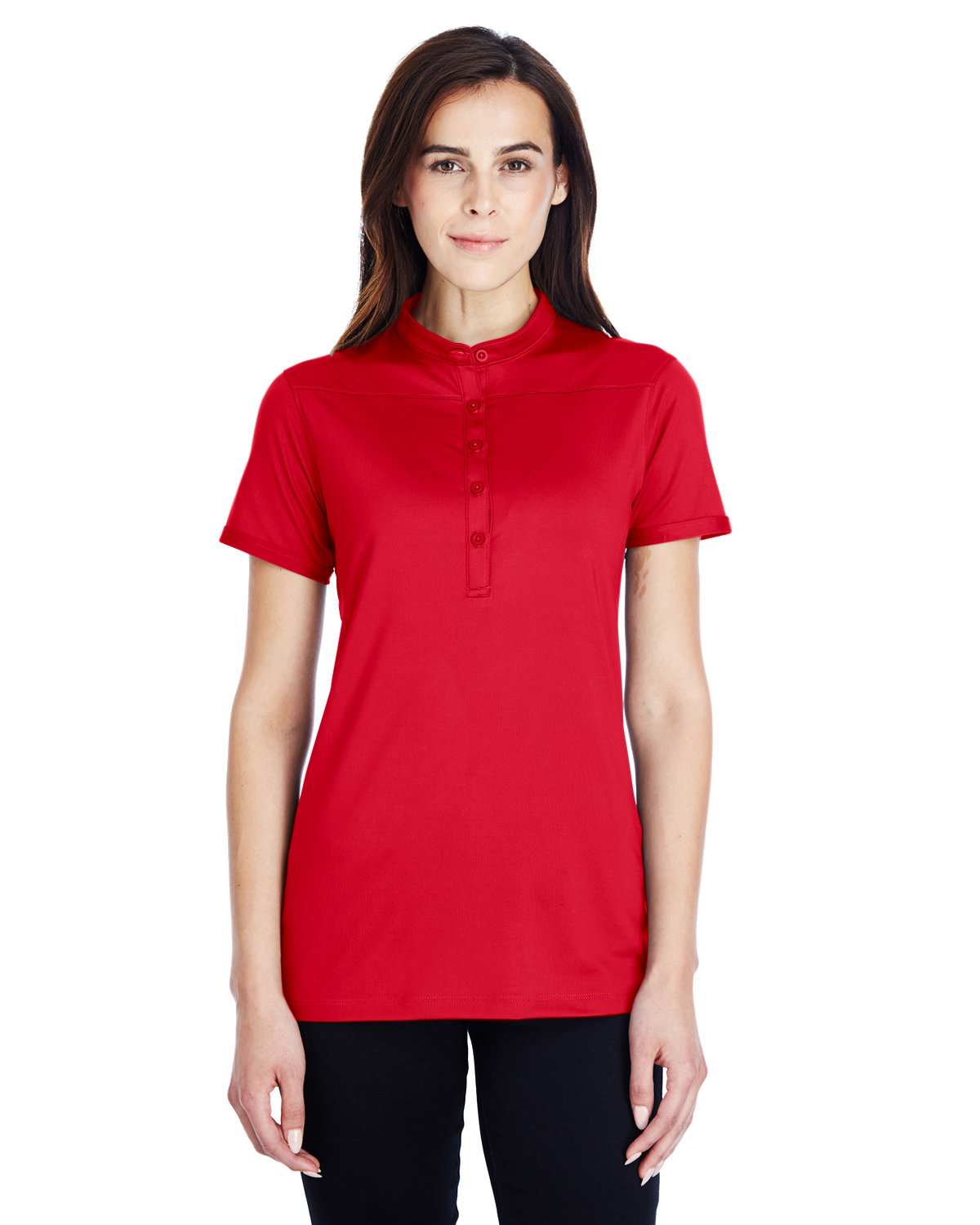 Under Armour SuperSale Ladies' Corporate Performance Polo 2.0 RED/ WHITE _600