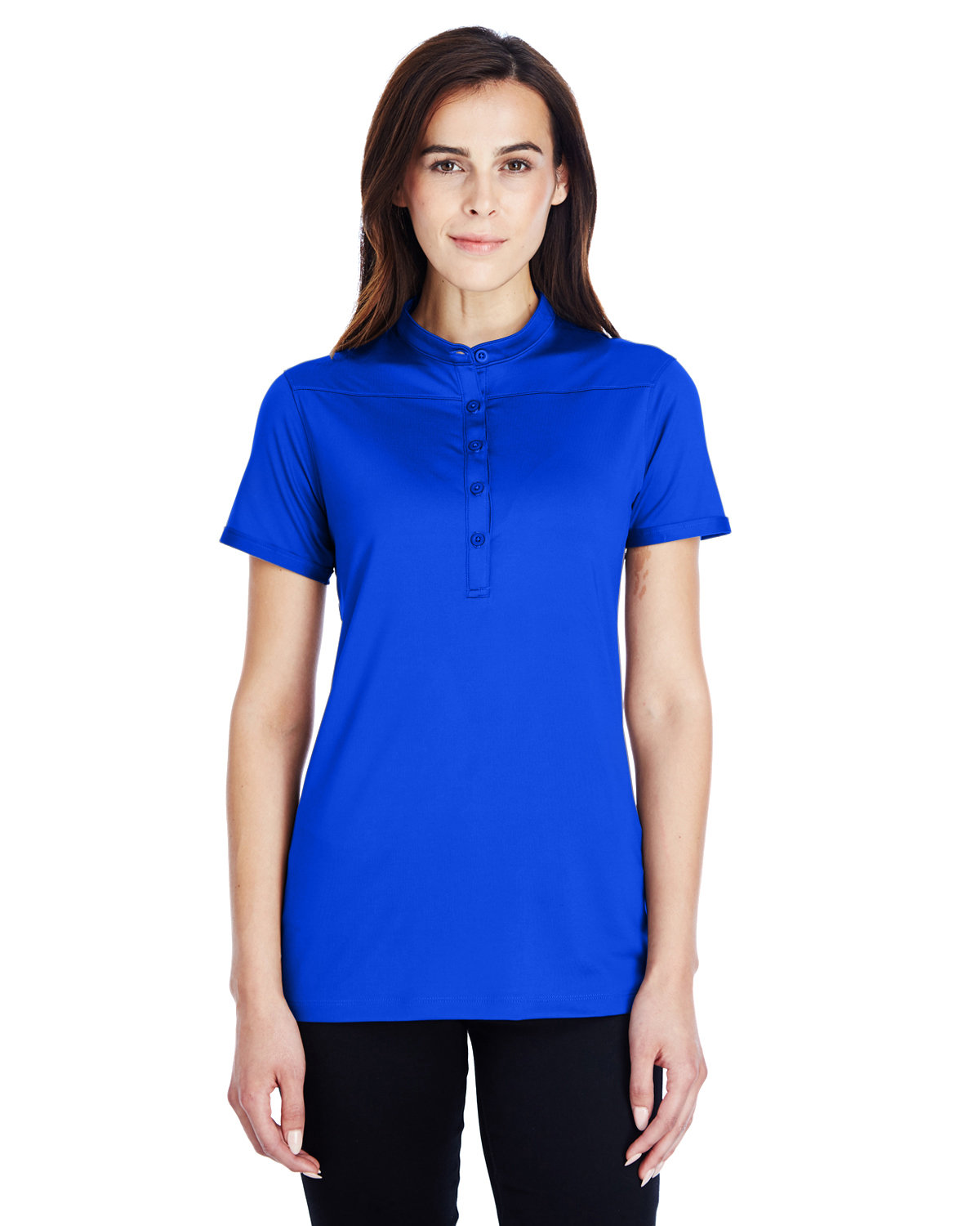 Under Armour SuperSale Ladies' Corporate Performance Polo 2.0 ROYAL/ WHITE _400