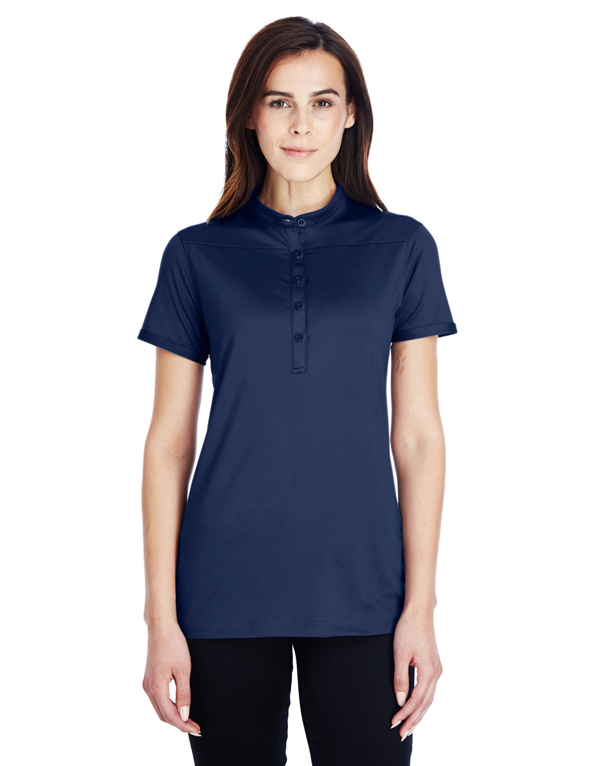 Under Armour SuperSale Ladies' Corporate Performance Polo 2.0 MID NVY/ WHT _410