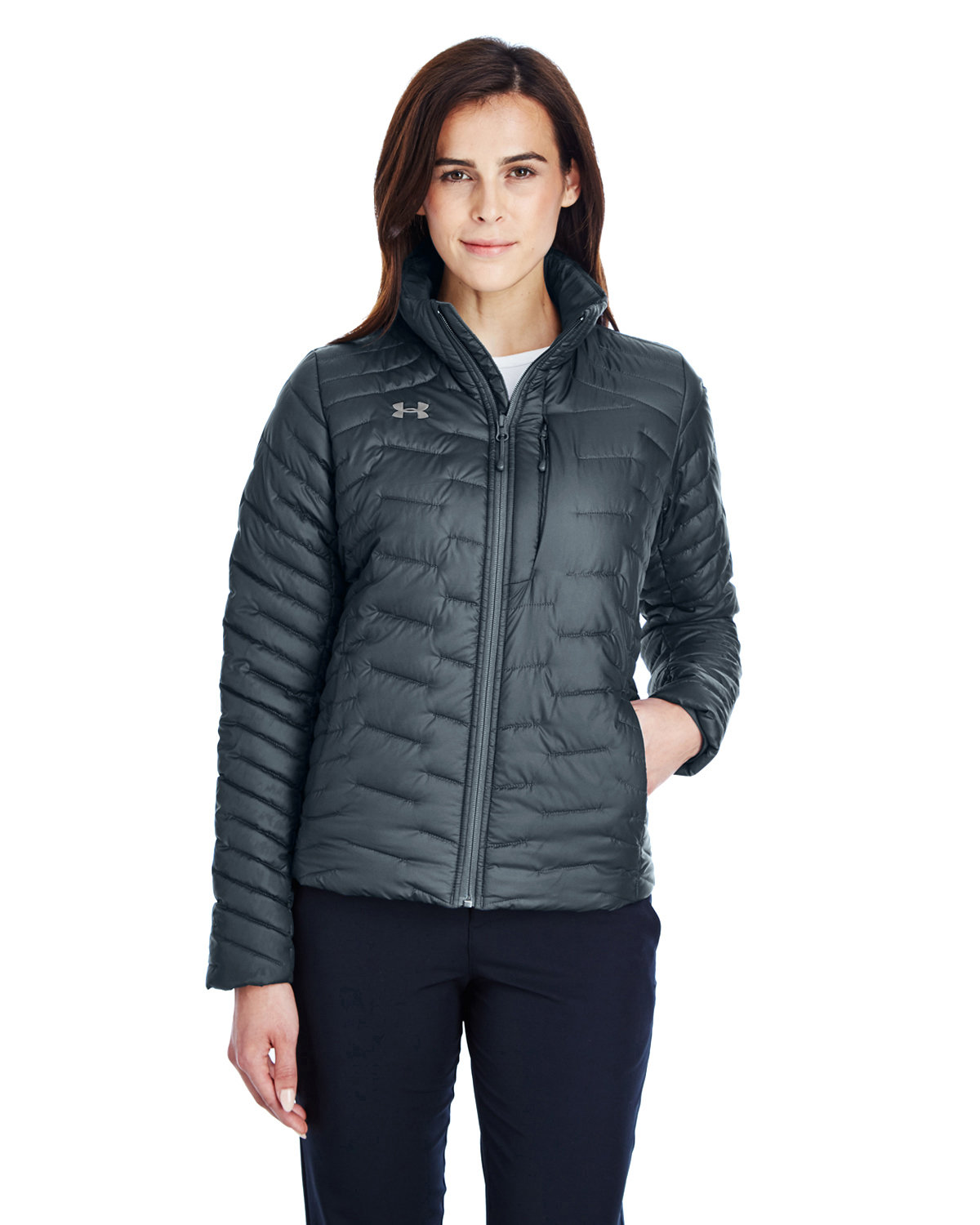 Under Armour SuperSale Ladies' Corporate Reactor Jacket STLTH GR/ ST _008