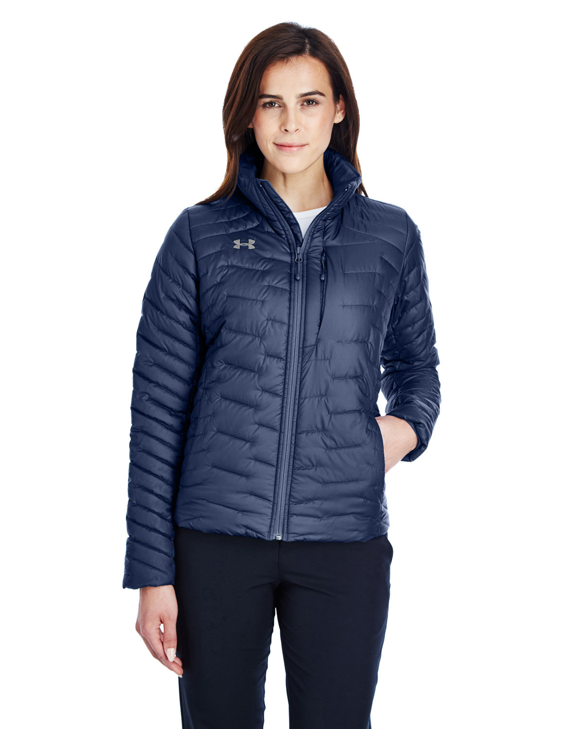 Under Armour SuperSale Ladies' Corporate Reactor Jacket MD NAVY/ STL _410
