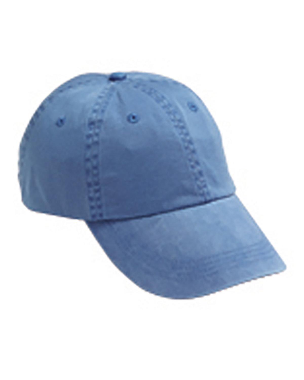 Anvil Adult Solid Low-Profile Pigment-Dyed Cap DECK BLUE