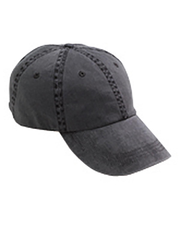 Anvil Adult Solid Low-Profile Pigment-Dyed Cap BLACK