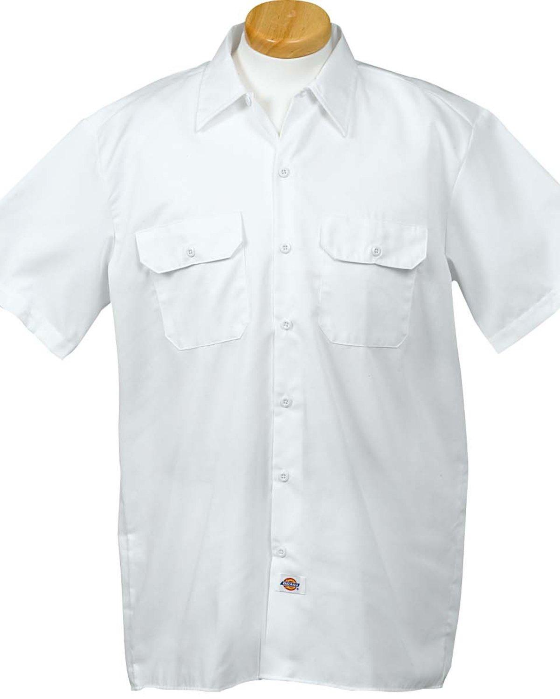 Dickies Men's 5.25 oz./yd² Short-Sleeve WorkShirt WHITE
