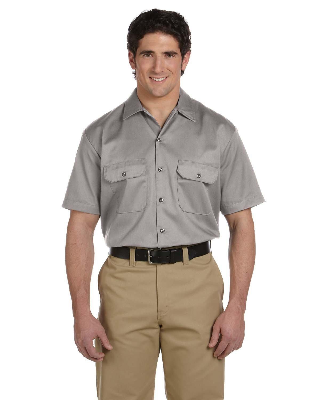 Dickies Men's 5.25 oz./yd² Short-Sleeve WorkShirt SILVER GRAY