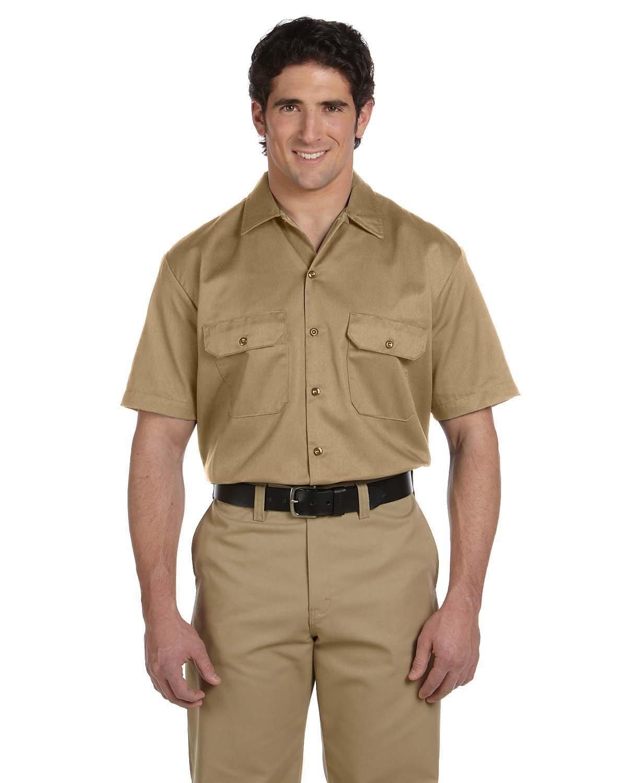 Dickies Men's 5.25 oz./yd² Short-Sleeve WorkShirt KHAKI