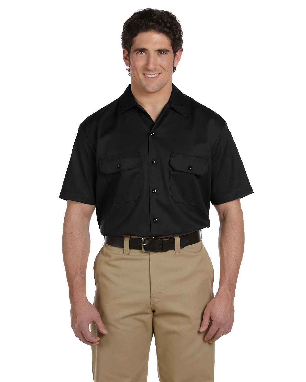 Dickies Men's 5.25 oz./yd² Short-Sleeve WorkShirt BLACK