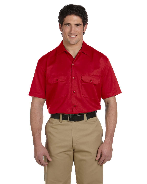 Dickies Men's 5.25 oz./yd² Short-Sleeve WorkShirt RED