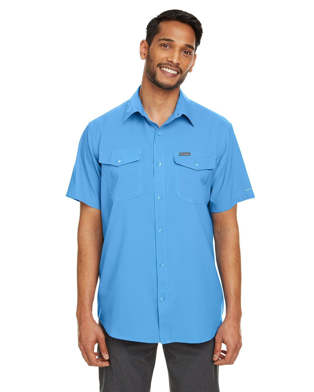 Columbia Men's Utilizer™ II Solid Performance Short-Sleeve Shirt AZURE BLUE