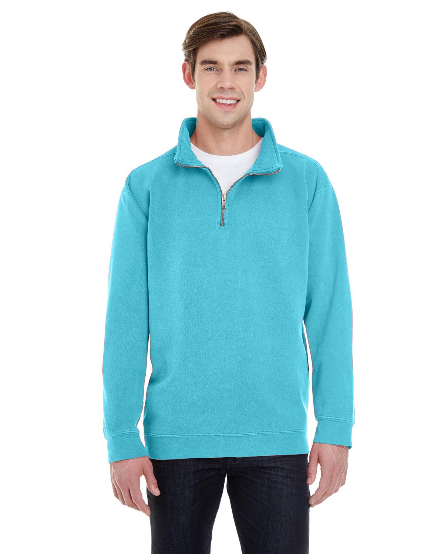 Comfort Colors Adult Quarter-Zip Sweatshirt LAGOON BLUE