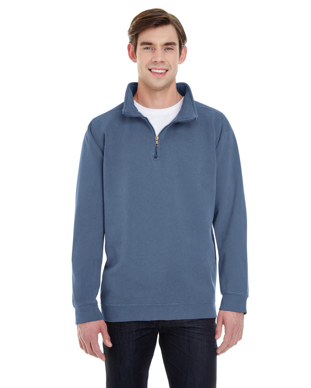 Comfort Colors Adult Quarter-Zip Sweatshirt BLUE JEAN