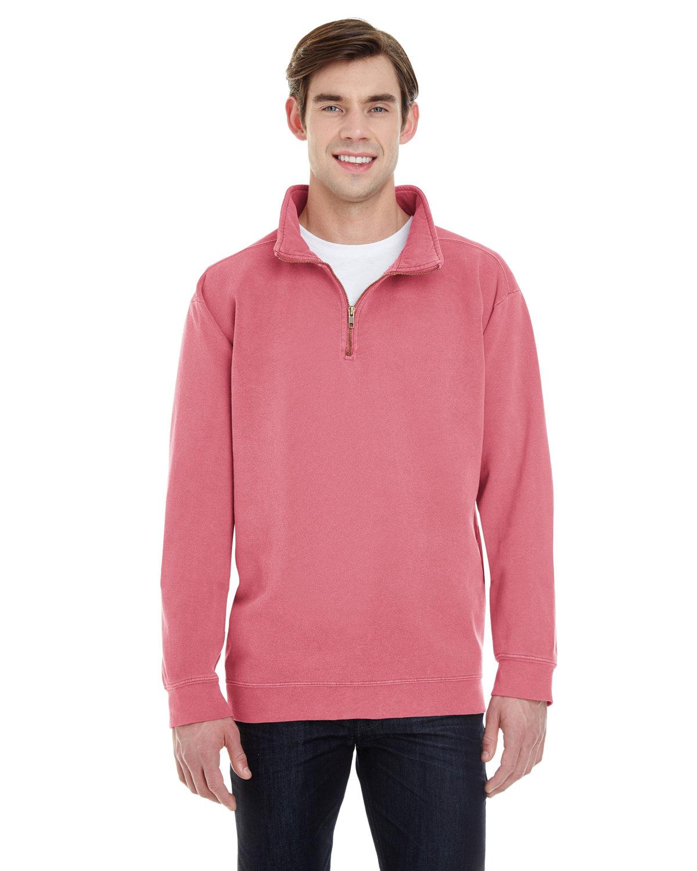 Comfort Colors Adult Quarter-Zip Sweatshirt CRIMSON