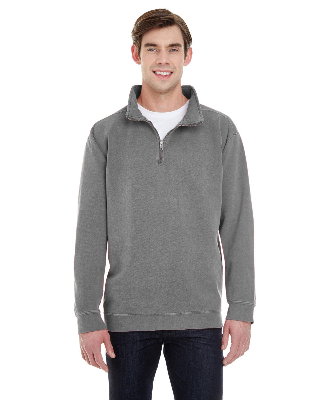Comfort Colors Adult Quarter-Zip Sweatshirt GREY
