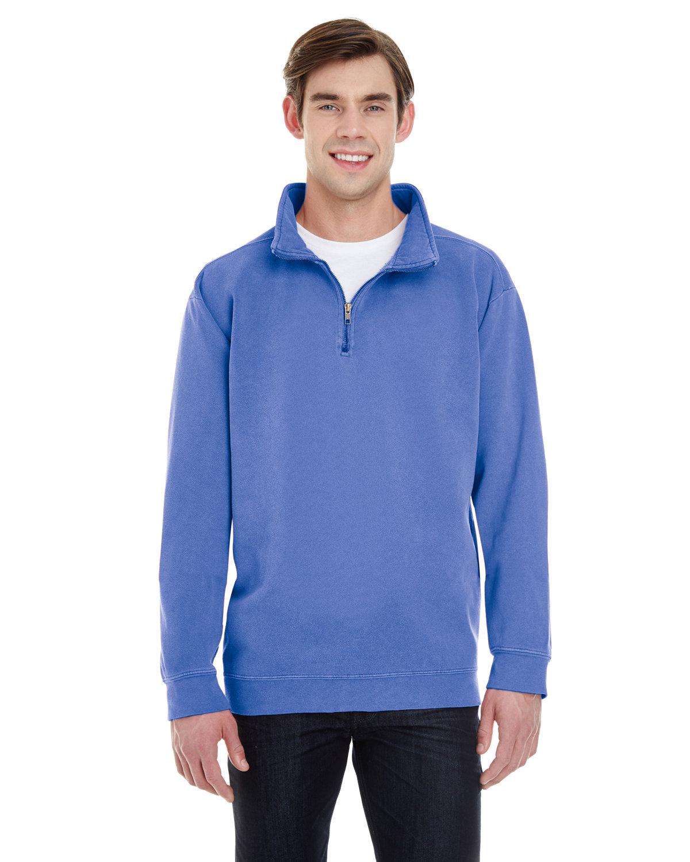 Comfort Colors Adult Quarter-Zip Sweatshirt FLO BLUE