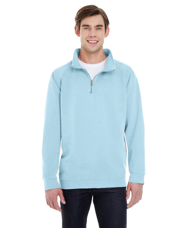 Comfort Colors Adult Quarter-Zip Sweatshirt CHAMBRAY