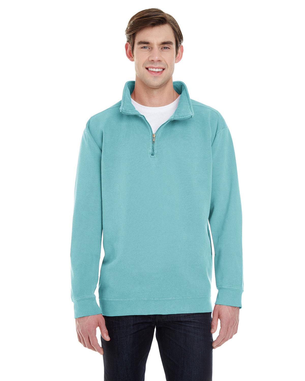 Comfort Colors Adult Quarter-Zip Sweatshirt CHALKY MINT