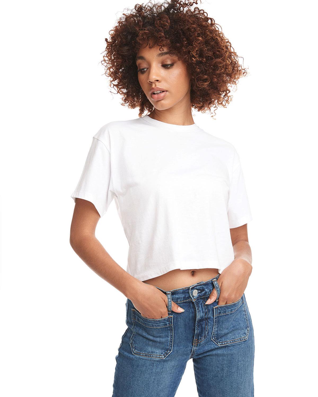 Next Level Ladies' Ideal Crop T-Shirt WHITE