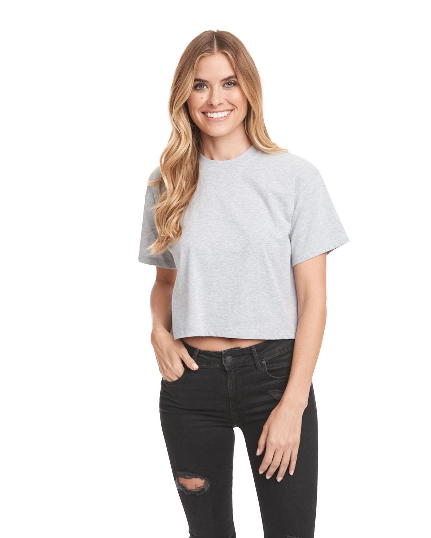 Next Level Ladies' Ideal Crop T-Shirt HEATHER GRAY