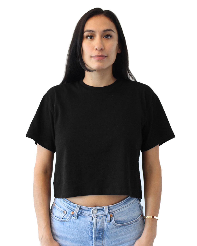 Next Level Ladies' Ideal Crop T-Shirt BLACK