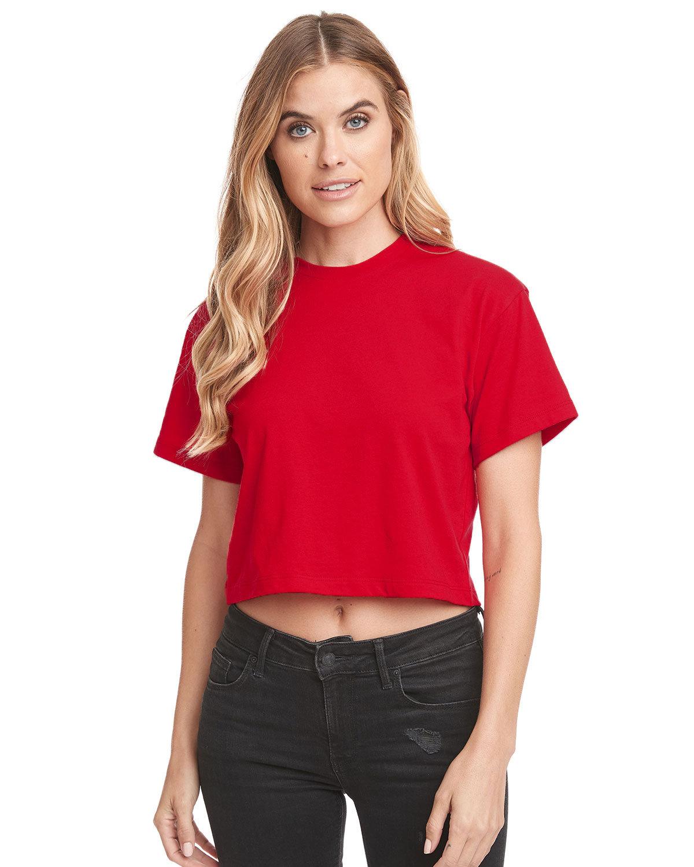 Next Level Ladies' Ideal Crop T-Shirt RED