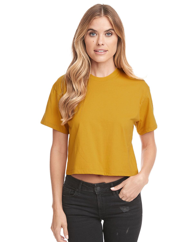 Next Level Ladies' Ideal Crop T-Shirt ANTIQUE GOLD