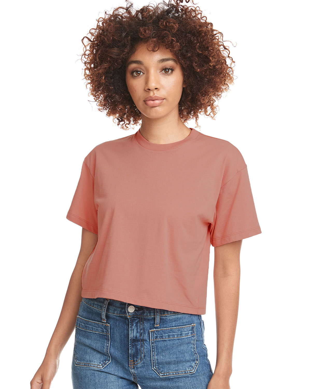 Next Level Ladies' Ideal Crop T-Shirt DESERT PINK